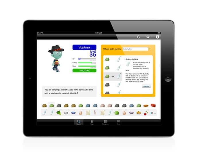 Glitch Inventory for iPad